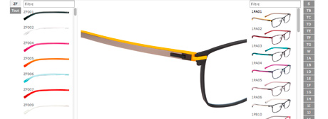 Eyeglass Frames Changeable Arms : Dilem, Eyewear with interchangeable temples